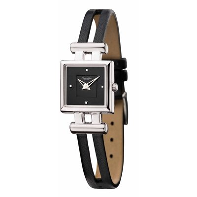 Kenneth Cole Women's Straps Classics Square Watch in Black