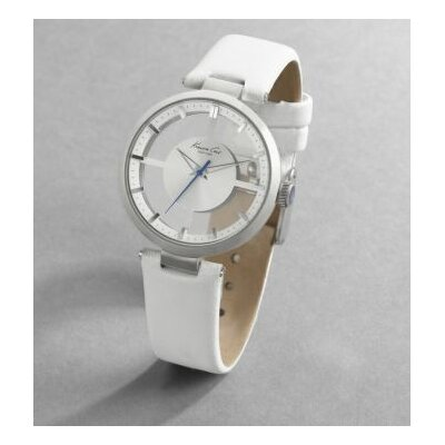 Kenneth Cole Women's Straps Transparency Watch in Silver White