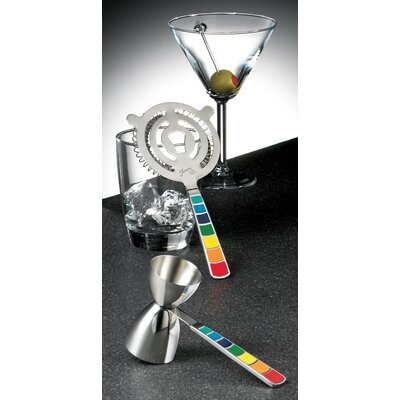 Fiesta Cookware® Masquerade 2 Piece Cocktail Strainer and Jigger Set