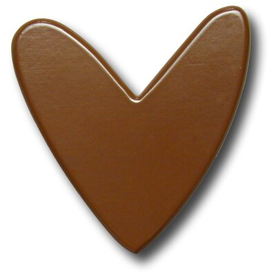 One World Modern Heart Drawer Knob in Chocolate
