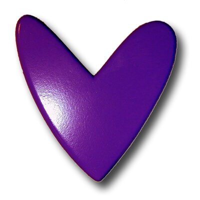 Modern Heart Drawer Knob in Dark Purple