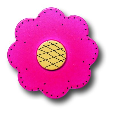 One World Lollipop Flower Drawer Knob in Bright Magenta