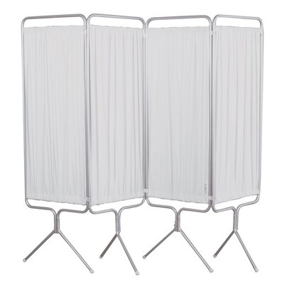 Winco Manufacturing 4 Panel Aluminum Folding Privacy Screen