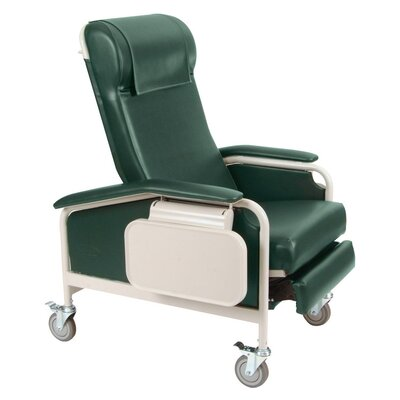 Winco Manufacturing Clinical Recliner with Nylon Casters