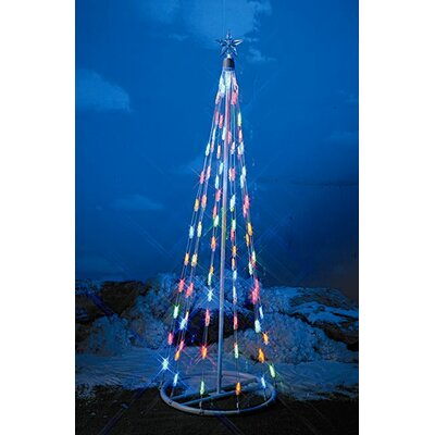 Homebrite Solar String Light Christmas Cone Tree
