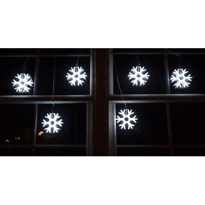 Homebrite Solar Gaint Snowflakes String Light in White