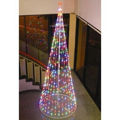 Homebrite Solar String Light Cone Tree in Multi-Color