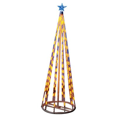 Homebrite Solar String Light Cone Tree Christmas Decoration