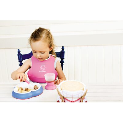 BabyBjorn Ocean Blue Plate and Spoon Set
