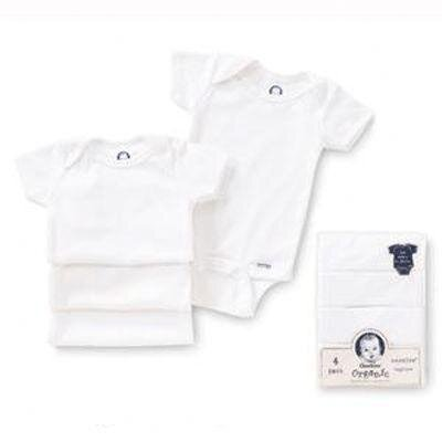 Gerber Baby Care Newborn Organic bodysuits (Pack of 4)