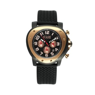 Equipe Grille Men's Watch with Black Case and Rose Gold Bezel