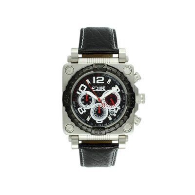 Equipe Gasket Men's Watch with Silver Case and Black Bezel