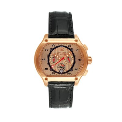 Equipe Dash Men's Watch with Black Band and Rose Gold Case