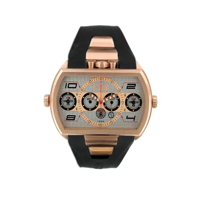 Equipe Dash XXL Men's Watch with Rose Gold Case and Silver Dial
