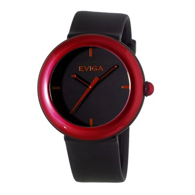Cirkle Men's Watch in Black with Red Bezel