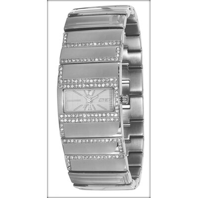 Beverly Hills Ladies Watch in Silver with Crystal Bezel