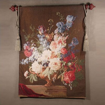 Tapestries, Ltd. Salient Blooms Brown Tapestry