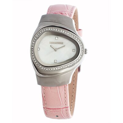 Lambretta Milio Mid Ladies Watch with Light Pink Leather Band