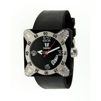 Vuarnet Deepest Lady Ladies Watch in Black with Silver Bezel