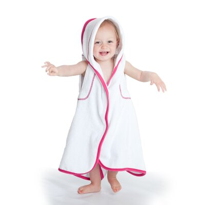 maamam aacua 4 in 1 Bath Towel with Pink Trim in White
