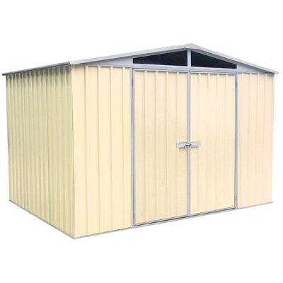 "Absco DayLite 9'10"" W x 7'2"" D Steel Garden Shed"