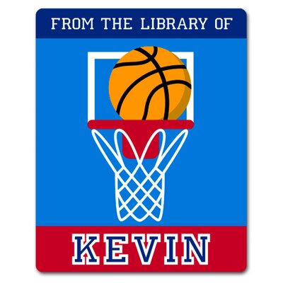 Olive Kids Game On Basketball Personalized Kids Book Plate (Set of 18)