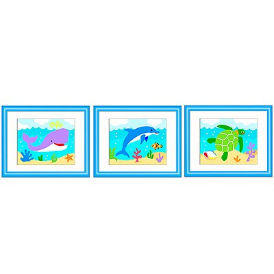 Olive Kids Ocean Framed Print (Set of 3)