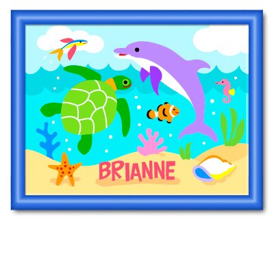 Olive Kids Ocean Large Personalized Print