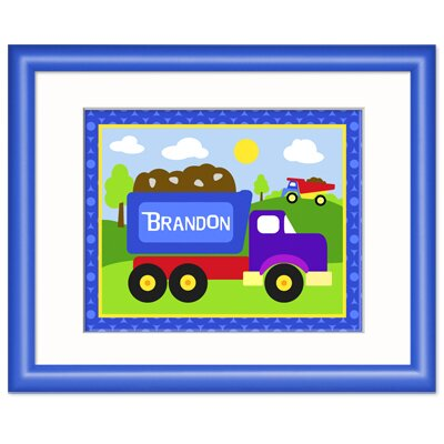 Under Construction Personalized Framed Print