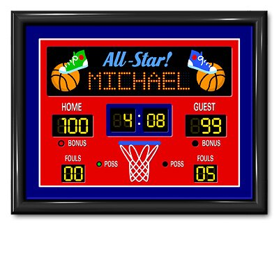Game On Basketball Personalized Framed Print