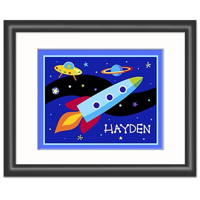 Olive Kids Out of This World Black Personalized Print