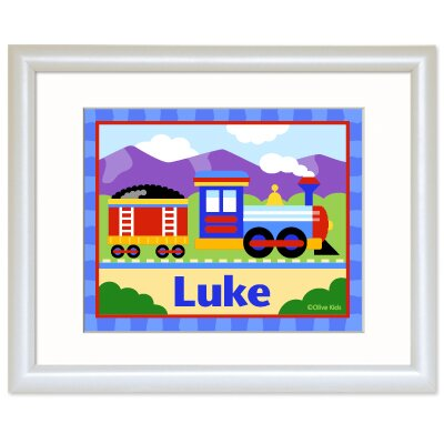 Trains, Planes and Trucks Personalized Train Print