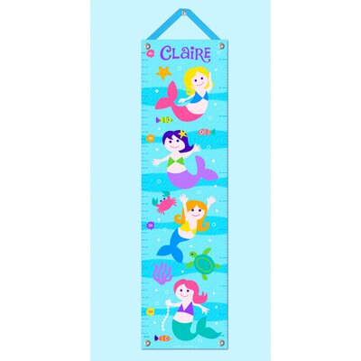 Olive Kids Mermaids Personalized Growth Chart