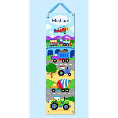 Trains, Planes and Trucks Personalized Growth Chart