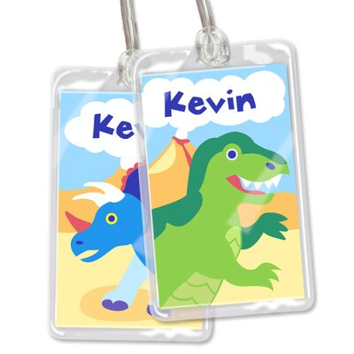 Olive Kids Dinosaur Land Personalized Name Tag Set