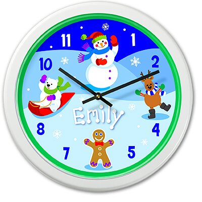 Olive Kids Snowman Personalized Clock