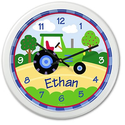 Olive Kids Truck Tractor Personalized Clock