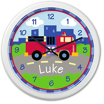 Olive Kids Trains, Planes and Trucks Truck  Personalized Clock