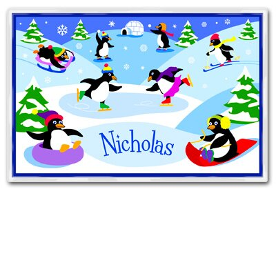 Olive Kids Penguins Personalized Placemat