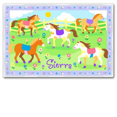 Olive Kids Patchwork Ponies Personalized Placemat