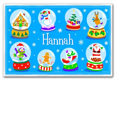 Olive Kids Snow Globe Personalized Placemat