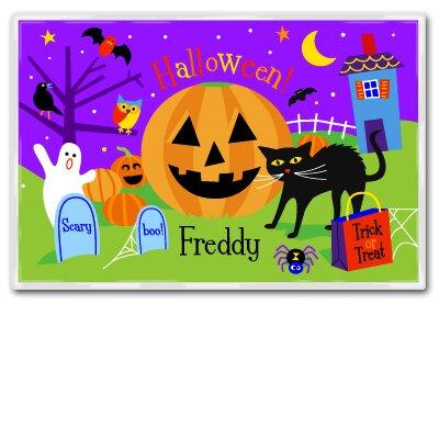 Halloween Pumpkin Fest Personalized Placemat