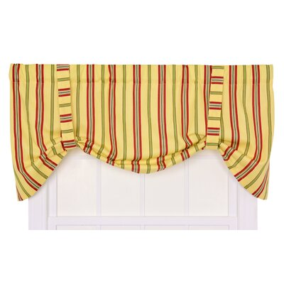 Ellis Curtain Warwick Medium Scale Stripe Tie-Up Valance