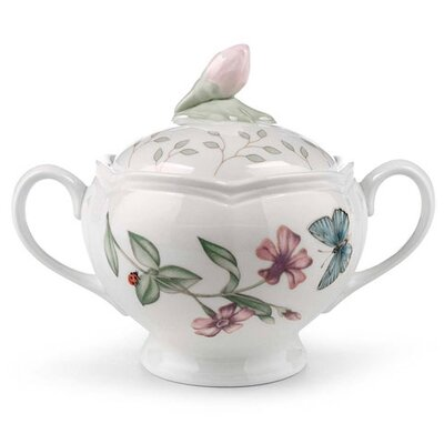 Lenox Butterfly Meadow Sugar Bowl with Lid