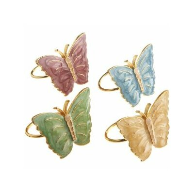 Butterfly Meadow Napkin Ring (Set of 4)