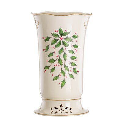 Lenox Holiday Pierced Vase