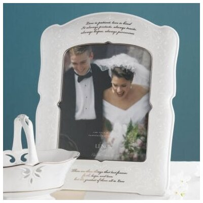 Lenox Opal Innocence Love is Patient Picture Frame