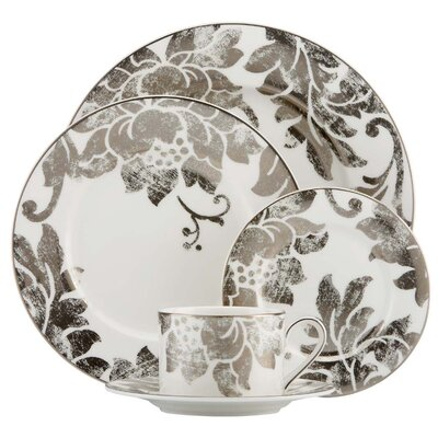 Silver Applique 5 Piece Place Setting