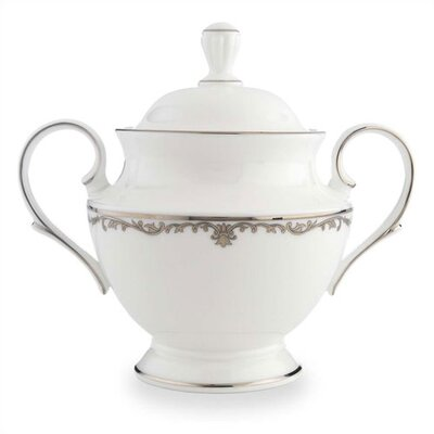 Lenox Coronet Platinum Sugar Bowl with Lid