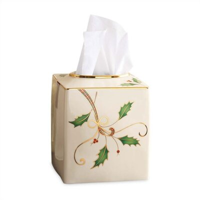 Lenox Holiday Nouveau Tissue Box Holder